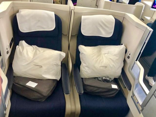 Sitzplatz- British Airways Business Class Seat 20 E,F
