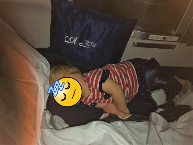 Schlafen im Business Class Sitz
