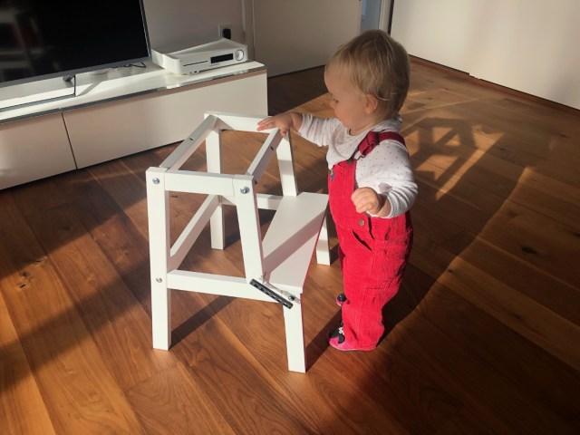 Ikea Bekvär noch die Deckplatte muss drauf für den Lernturm