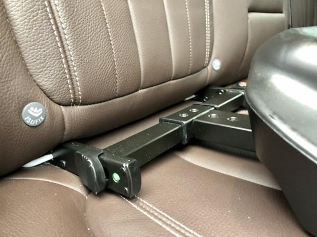 Isofix-Verankerung auf dem Rücksitz im BMW