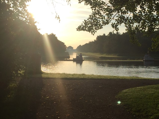 Sonnenaufgang im Nymphenburger Schlosspark
