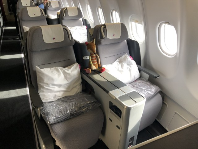 Business Class Sitz in der Eurowings Business Class im Airbus A330-300