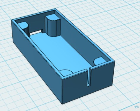 A picture of the design of the speaker enclosure