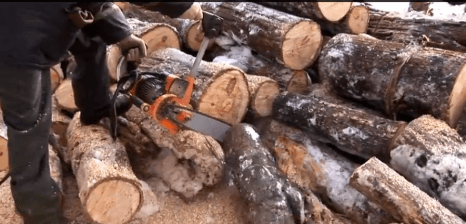 To cut 8 logs in just 50 seconds is possible only if you use Victar professional electric saw