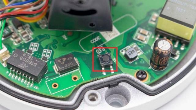 paramètres usine camera videosurveillance