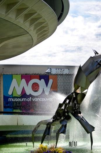 Museum of Vancouver sculpture exterior