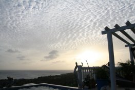 sunset at Coral Estate