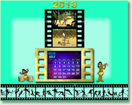 calendar iulie 2013