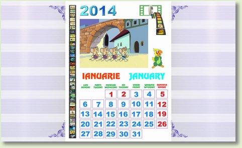 calendar ianuarie 2014