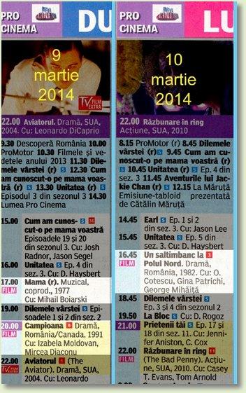 B MARTIE 9 - 10 PROCINEMA 2