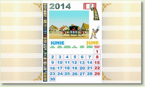 calendar iunie 2014