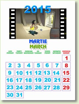 Calendar martie 2015