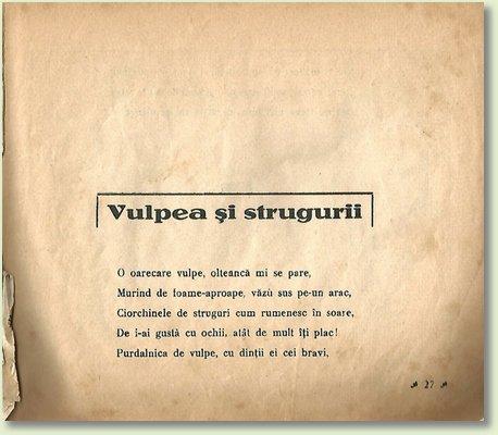 A VULPEA SI STRUGURII
