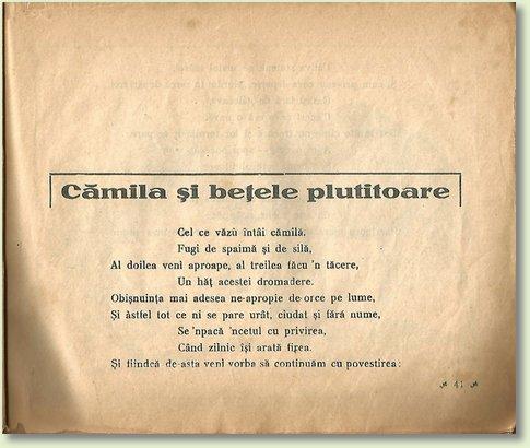 A CAMILA SI BETELE PLUTITOARE