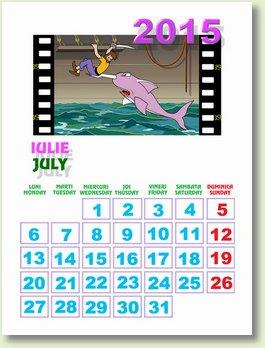 Calendar iulie 2015