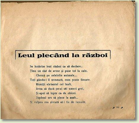 A LEUL PLECAND LA RAZBOI