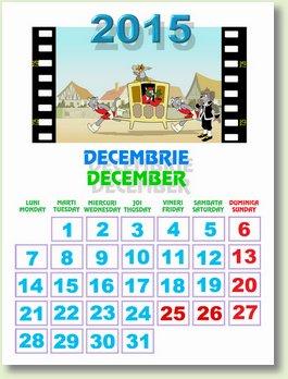 Calendar decembrie 2015