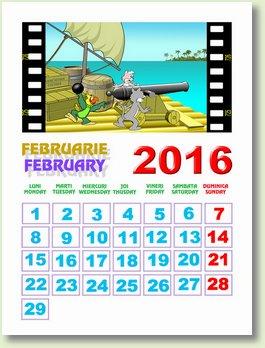 calendar februarie 2016