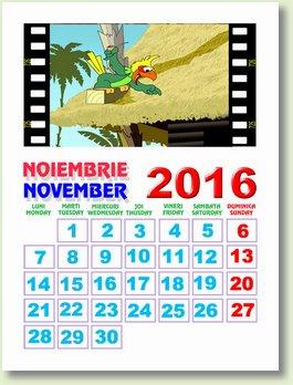 calendar noiembrie 2016