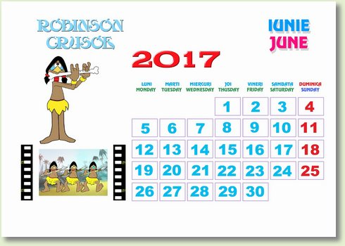 Calendar iunie 2017