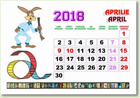 Calendar aprilie 2018