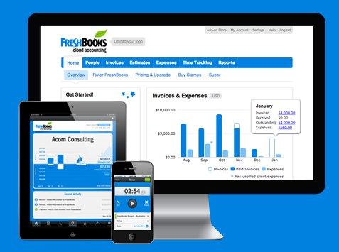 Try FreshBooks Free for 30 Days