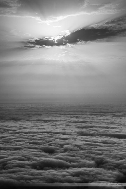 mar de nubes, victor cerón, fotografía
