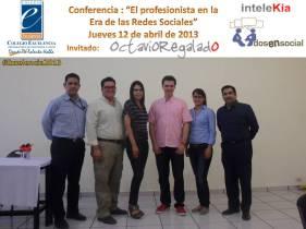 @OctavioRegalado en Colegio Excelencia con personal docente.