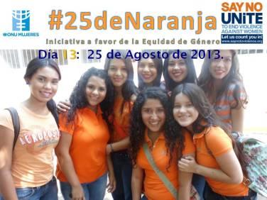 Estudiantes #5BMPIA del CBTIS No. 188 apoyando #25deNaranja.