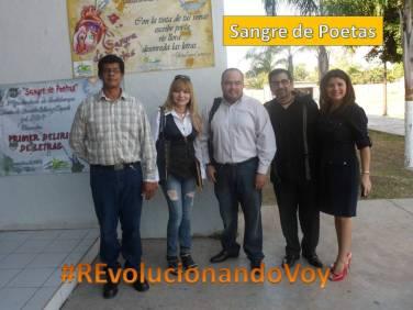 Martín Valens, Cristina Sáinz Sotomayor, Carlos González, Víctor Flint Flores Hernández y una representante del ITHUA.