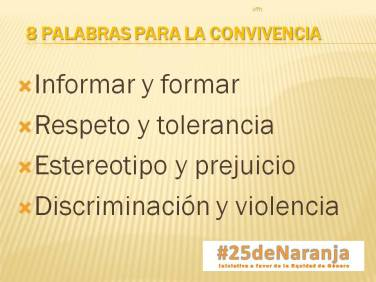 8 palabras convivencia #25deNaranja