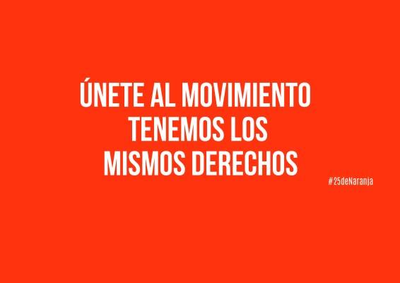 Únete al movimiento. Tenemos los mismos derechos.