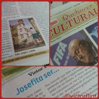 Josefita ser... en Quehacer Cultural de Diario del Yaqui.