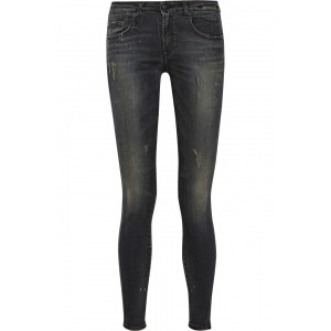 R13 Kate Skinny Jeans in Orion Black as seen on Victoria Beckham