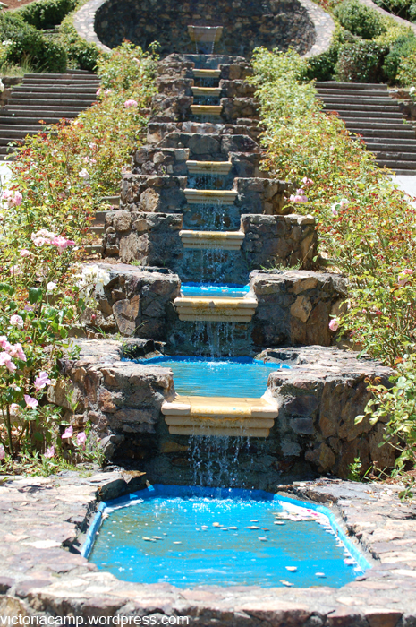 Texas Rose Garden Ideas Photograph | Partial view of the tie on Tiered Yard Landscaping id=74772