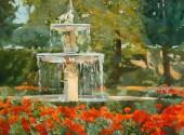 Fountain near Casa de Fieras Madrid, Spain 2009
