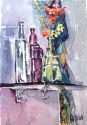 Glass Bottles on Shelf 2012