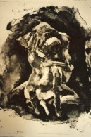 Canto V (106) Forever Buffeted by Wind in the Second Circle 1992 Lithography Print on Arches Paper 4/6