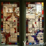 3 Contemporary Stained Glass Hangings In Pam S Garden Victoria Balva
