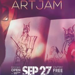 What Flavour is Art Jam? Dr Sketchy's Special at Wellington Mill.