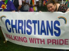Erotic Author Reverend Blisse Walking with Pride! #ManchesterPride #GodlovesGays #RevBlisse
