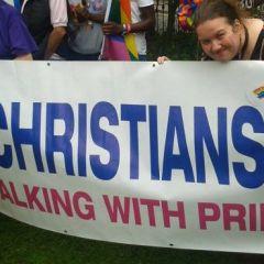 Erotic Author Reverend Blisse Walking with Pride! #ManchesterPride #GodlovesGays #RevBlisse