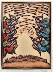 David Frampton woodcut illustration