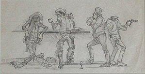 """""""Dead Cowboys' Bar"""" by Fletcher Martin"""