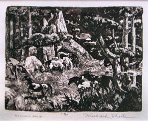 Mountain Horses by Millard Sheets