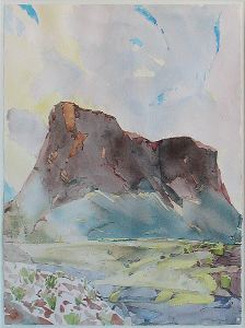 Mountain Landscape by Bruce McGrew