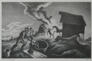Fire In the Barnyard by Thomas H Benton