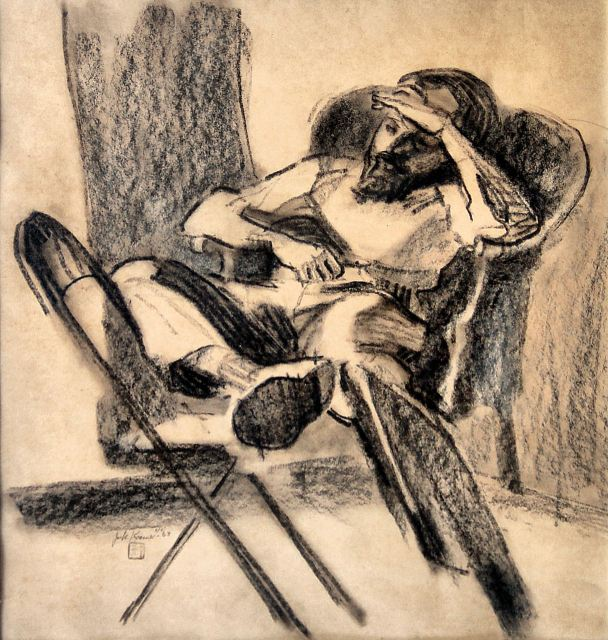 by Jack Kramer, Study of a Man with Two Chairs