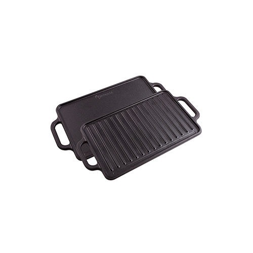 "Cast Iron Rectangular Reversible Griddle 13""x 8.3"""