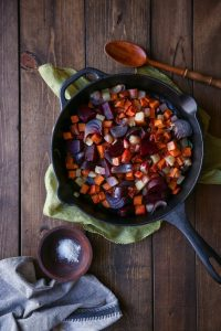 Cast Iron Root Veggie Roast